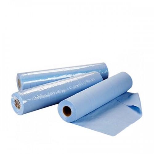 Еднократни чаршафи на ролка TNT в син цвят 60 см или 70 см