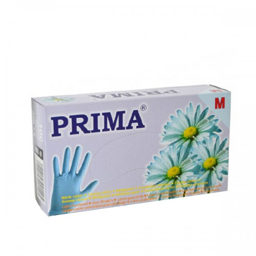 Ръкавици за еднократна употреба кутия от 100 броя в син цвят