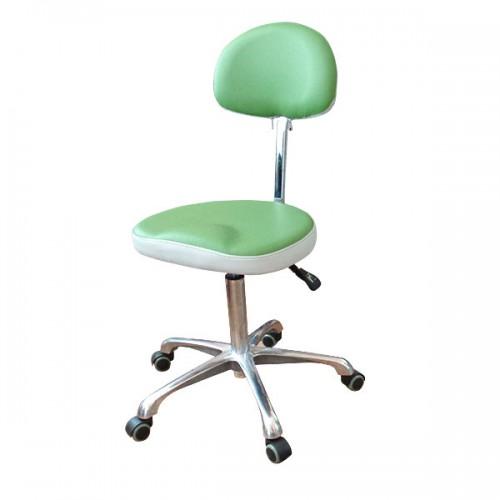 Работна табуретка в зелено и бяло модел 3007