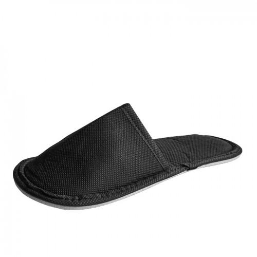 Универсални затворени чехли от нетъкан текстил, Черни