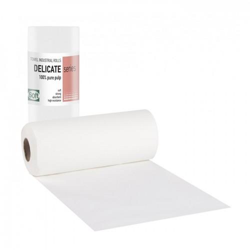 Еднократни хартиени кърпи на ролка двупластови Softcare