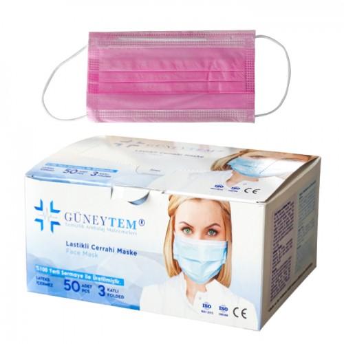 Предпазни маски за еднократна употреба Güneytem, 50 броя