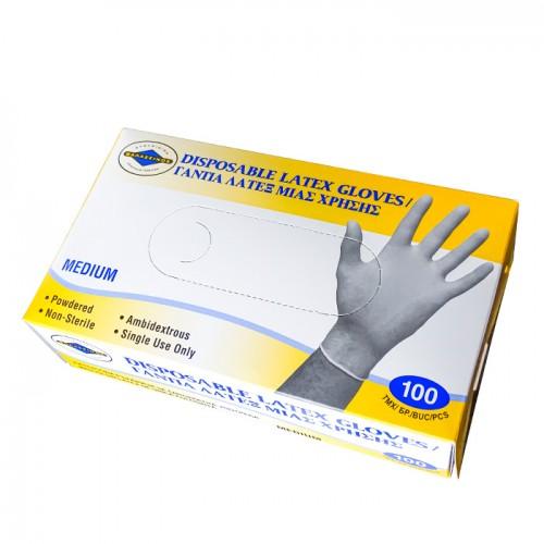 Еднократни ръкавици от латекс, опаковка от 100 броя