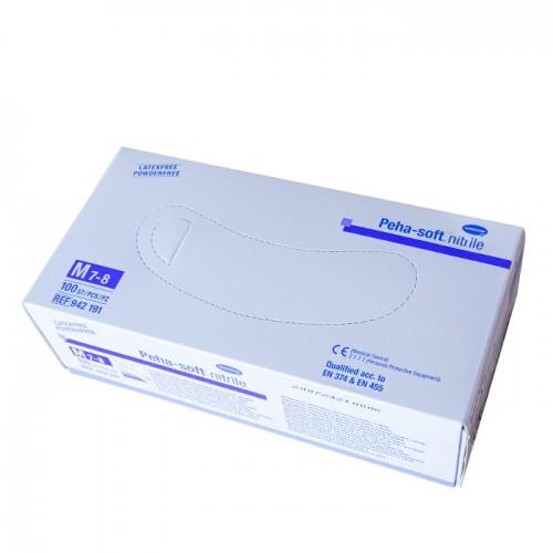 Сини ръкавици за еднократна употреба от нитрил, 100 броя