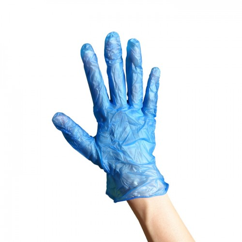 Еднократни винилови ръкавици 100 броя сини