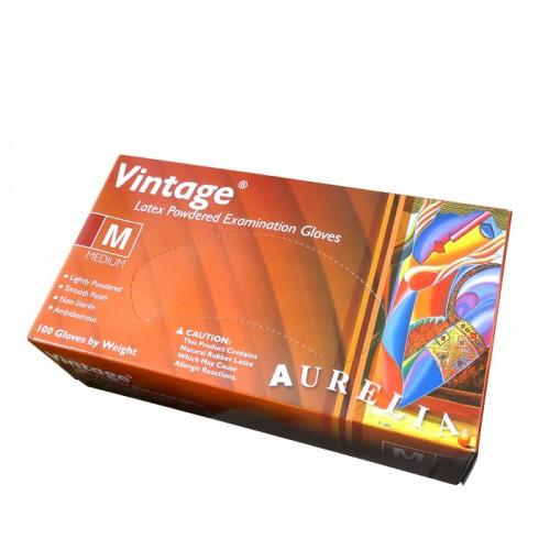 Aurelia vintage еднократни ръкавици от латекс в опаковка от 100 броя