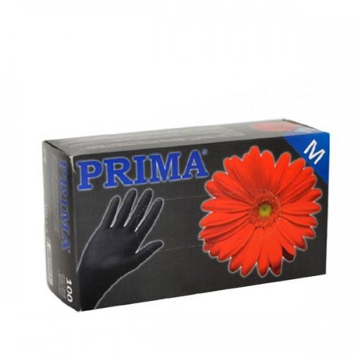 Ръкавици за еднократна употреба кутия 100 броя в черен цвят