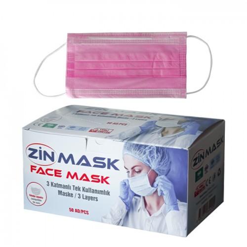 Предпазни маски за еднократна употреба Zin mask, 50 броя