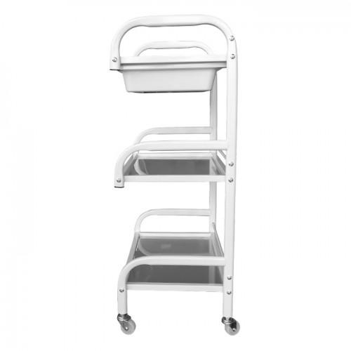 Подвижна козметична количка със стъклени рафтове модел WE354