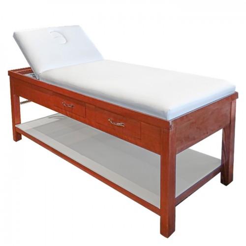 Дървена стационарна кушетка за масаж и козметика ML310